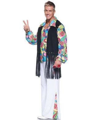Outta Sight 1970's Men's Hippie Fancy Dress Costume