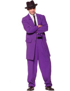 1940's Men's Purple Zoot Suit Fancy Dress Costume