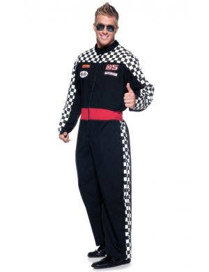 Men's Race Car Driver Costume Jumpsuit Front