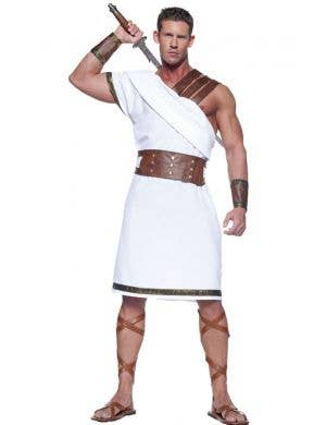 Men's Greek Warrior Fancy Dress Costume Front