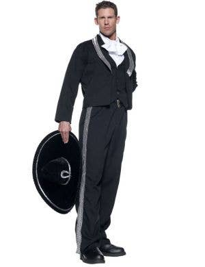 Men's Mariachi Deluxe Mexican Fancy Dress Costume Front