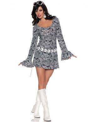 70's Women's Go Go Dancer Retro Fancy Dress Front View