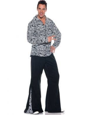 Men's 1970's Disco Fancy Dress Costume Front