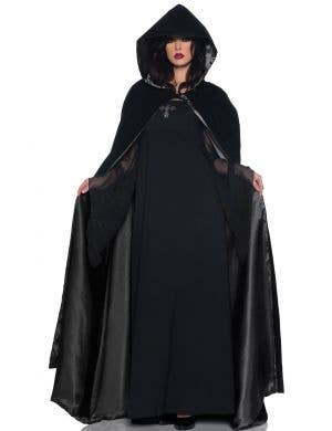 Deluxe Satin Lined Black Costume Cape