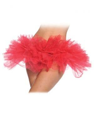 Layered Women's Sexy Red Mini Costume Tutu