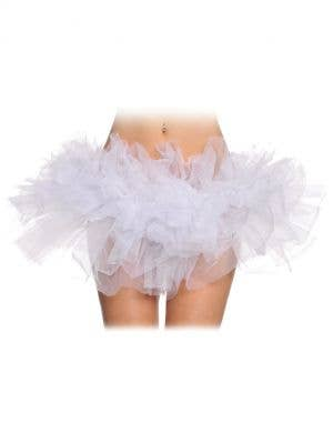Ruffled White Mesh Women's Tutu Costume Accessory