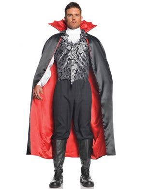 Reversible Black and Red Vampire Halloween Cape