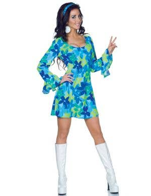 Wild Flower Child Women's 1970's Hippie Costume