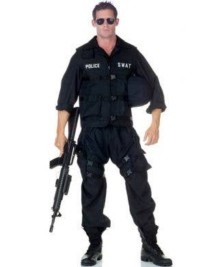 Men's Deluxe SWAT Special Forces Fancy Dress Costume Front