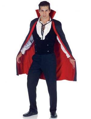 Vampire Red and Black Halloween Costume Cape