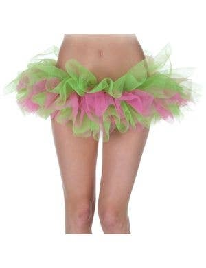 Ruffled Green and Pink Costume Tutu