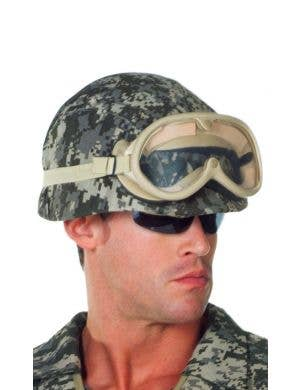 Camouflage Print Army Helmet Costume Accessory