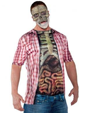 Photo Real Bones and Guts Men's Halloween Costume Shirt