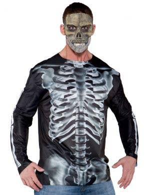 Photo Real X-Ray Skeleton Men's Halloween Costume Shirt