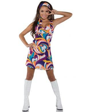 Peace Women's Psychedelic 60's Hippie Costume