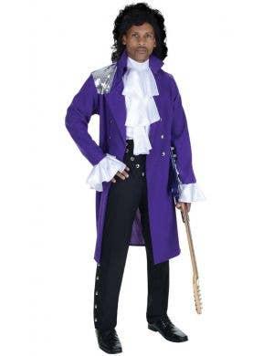 Pop Star Prince Purple Rain Men's Fancy Dress Costume