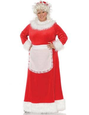 Mrs. Claus Plus Size Women's Traditional Red Christmas Costume