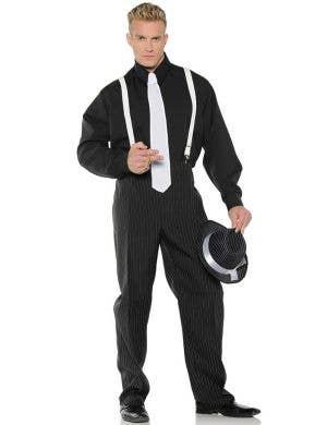Roaring 20's Pinstripe Gangster Suit Men's Plus Size Costume