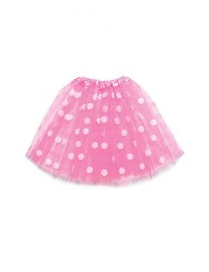 Polka Dot Pink and White Mesh Women's Costume Tutu