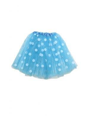 Polka Dot Blue and White Mesh Women's Costume Tutu