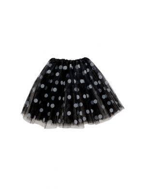 Polka Dot Black and White Mesh Women's Costume Tutu