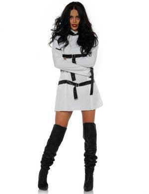 Wrapped Up Women's Sexy Straight Jacket Halloween Costume