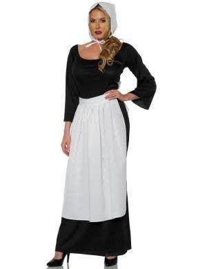 Colonial Apron and Bonnet Women's Costume Accessory Set