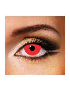 Mini Sclera Red 90 Day Wear Horror Contact Lenses