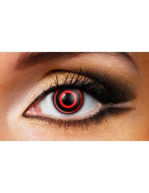 Bullseye Red and Black 90 Day Wear Contact Lenses