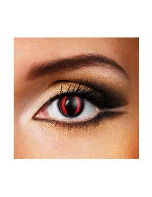 Fire Dragon 90 Day Wear Red and Black Contact Lenses