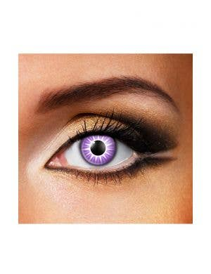 Starburst 90 Day Wear Purple Patterned Contact Lenses