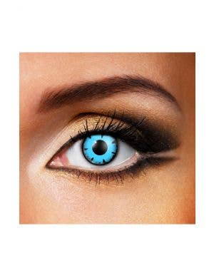 Wizard Blue and Black Eyes 90 Day Wear Contact Lenses