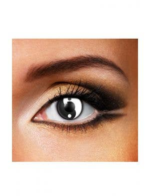 Ying and Yang Black and White 90 Day Wear Contact Lenses