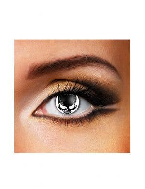 Skull Black and White 90 Day Wear Contact Lenses