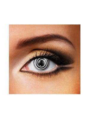 Crazy Black and White Spiral 90 Day Wear Contact Lenses