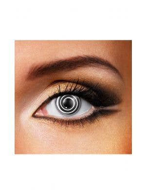 Spiral Black and White 90 Day Wear Crazy Contact Lenses