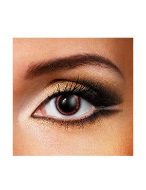Manga 90 Day Wear  Red and Black Costume Contact Lenses