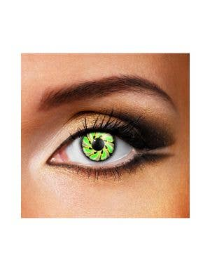 Groovy 70's Green Black & Yellow 90 Day Wear Contact Lenses
