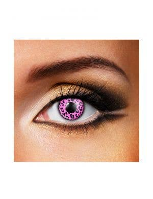 Cheetah 90 Day Wear Pink Patterned Contact Lenses
