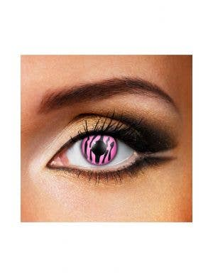 Zebra Pink and Black 90 Day Wear Contact Lenses