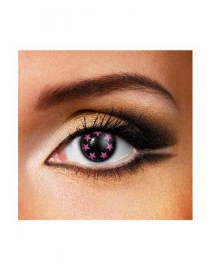 Sparkles Pink Stars 90 Day Wear Contact Lenses