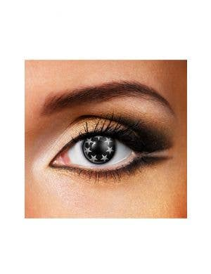 Sparkles Stars Black and White 90 Day Wear Contact Lenses