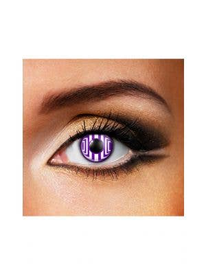 Cosmic Purple and White 90 Day Contact Lenses