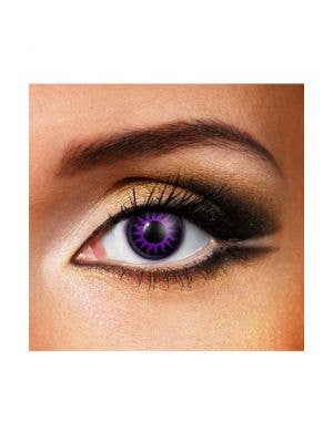 Venus Purple and Black 90 Day Wear Contact Lenses