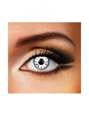 Tick Tock Clock 90 Day Wear Patterned Contact Lenses
