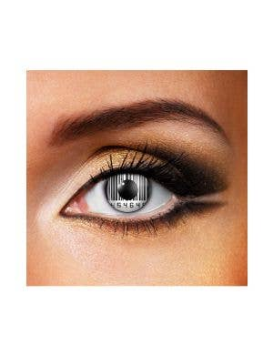 Barcode Eyes Black and White 90 Day Wear Contact Lenses