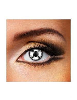 Cross Pattern White & Black 90 Day Wear Contact Lenses
