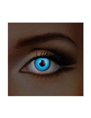 Blue UV Reactive 90 Day Wear All in One Contact Lenses Set