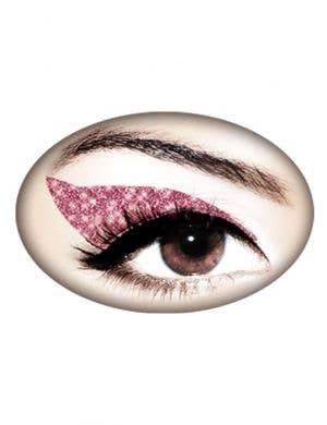 Pink Glitter Temporary Eye Makeup