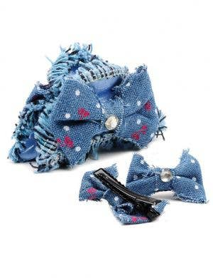3 Piece Hair Clip Set - Light Blue Denim